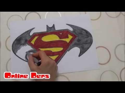 Superman Batman Boyama Boyama Videoları Pinterest Superman Ve