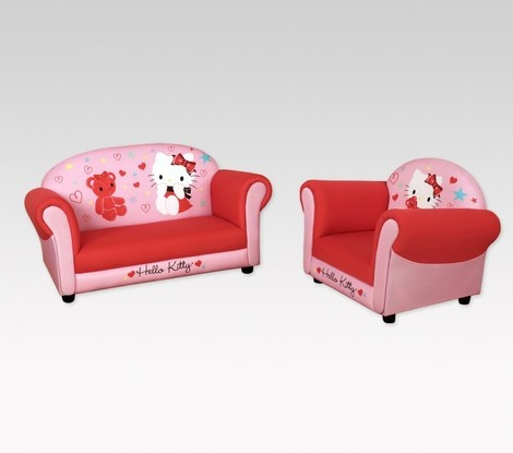 Sofa Cover Hello Kitty Sofa and Armchair Set Pink Girl Toddler Bedroom Furniture New