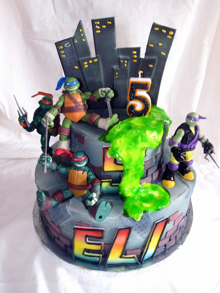 Teenage Mutant Ninja Turtle Cake Cake Ideas Pinterest