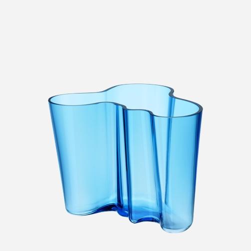 Iitala Alvar Aalto vase turquoise