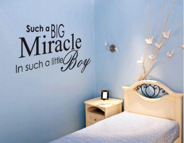 Such a big miracle in such a little Boy. Wall Sticker by www.wallchimp.co.uk