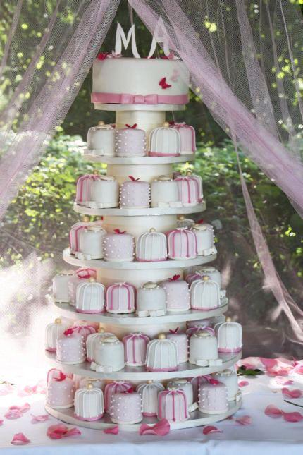 Hochzeit-Minitörtchen im Vintage-Stil - auch für den Polterabend oder die Bridal Shower