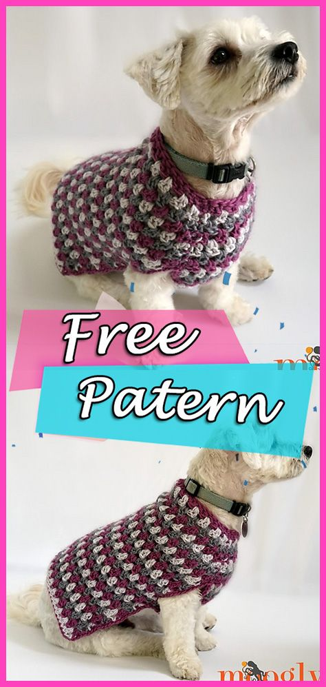 Well Dressed Dog Coat Crochet Free Patten Pet Clothing | Crochet ...
