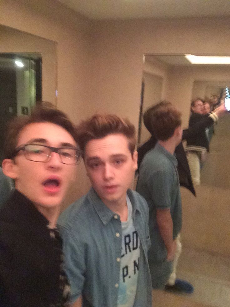 Game of Thrones: Isaac Hempstead Wright and Dean Charles Chapman (photo via Isaac's Twitter)