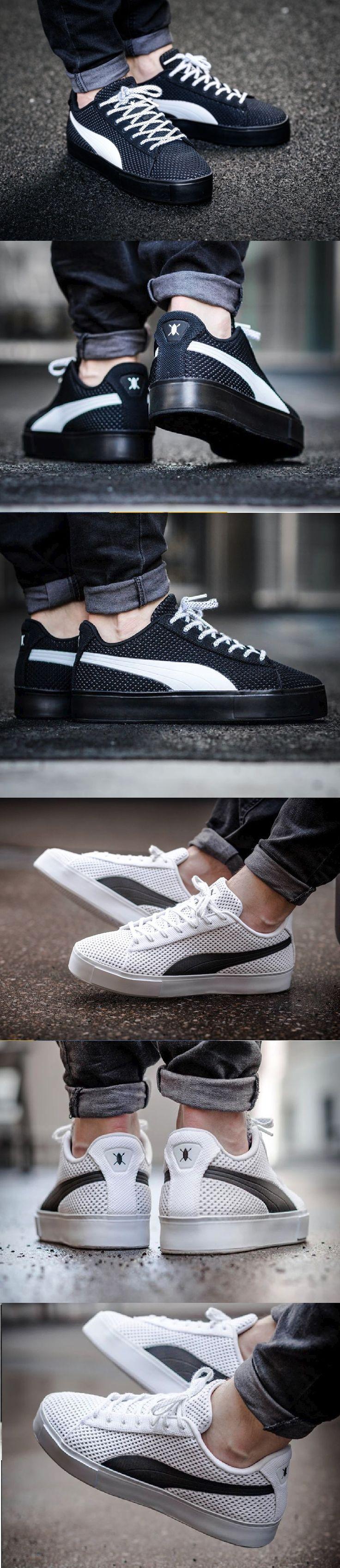 Puma Court Knit White & Black