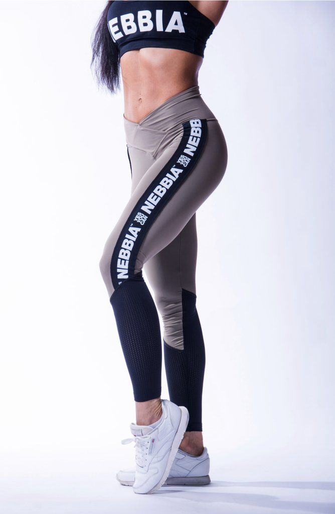 Nebbia high waist mesh leggings mocha 601 in 2019  9ade047c2e6