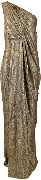 One Shoulder Grecian Gown - Lyst