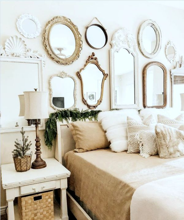 13 Mirrors Gallery Walls Ideas To Copy Lolly Jane Gallery Wall Bedroom Mirror Decor Living Room Master Bedroom Gallery Wall
