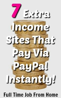 Are you in need of some quick extra cash? Here's 7 extra income ideas that pay via PayPal instantly!