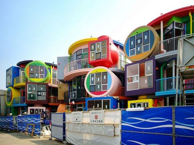 Уникальный архитектурный проект – Чердаки обратимой судьбы в Токио. #строительство #Япония #Токио  #архитектура
