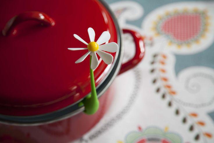 Flower power - Ototo. Dit vrolijke bloemetje voorkomt overkoken, waarbij bij het koken de blaadjes leuk mee draaien.