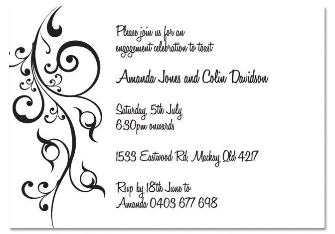 engagement invitations wording Google Search – Engagement Invitation Words