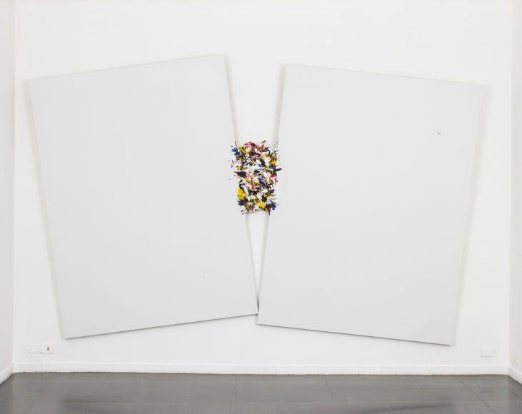 Contenzionso, 2016, olio, tela, legno