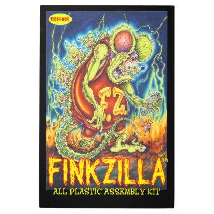 Acefink FinkZilla Metal Wall Art Rat Fink Kustom - cyo diy customize unique design gift idea
