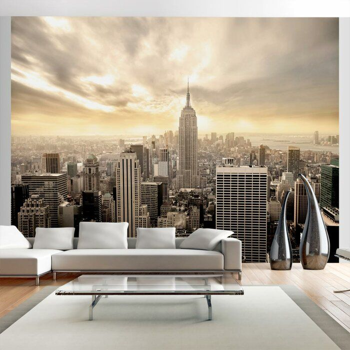 New York Manhattan At Dawn 309cm X 400cm Wallpaper In 2020 New