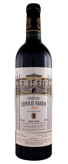 Château Leoville Barton, Saint Julien; one of 14 Deuxieme Grand Crus Classes (Second Growths); Bordeaux