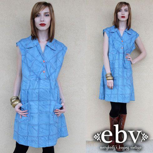 Plus Size Vintage Plus Size Dress Vintage 70s Patchwork by shopEBV, $42.00