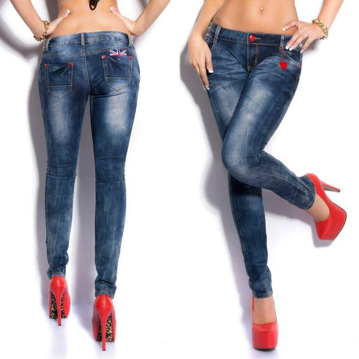 Jeans fashion KATHLEEN couleur bleu
