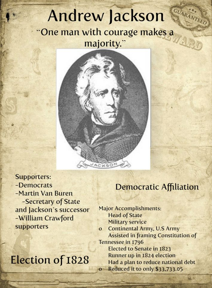 ANDREW JACKSON Election Poster PICTURES PHOTOS and IMAGES