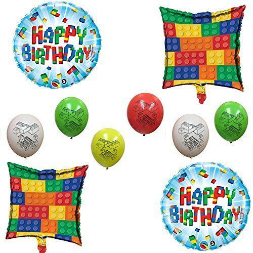 Brick Happy Birthday Balloon Decoration Kit