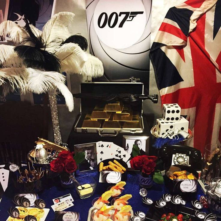 Check out this James Bond 007 birthday party! See more party ideas at CatchMyParty.com!