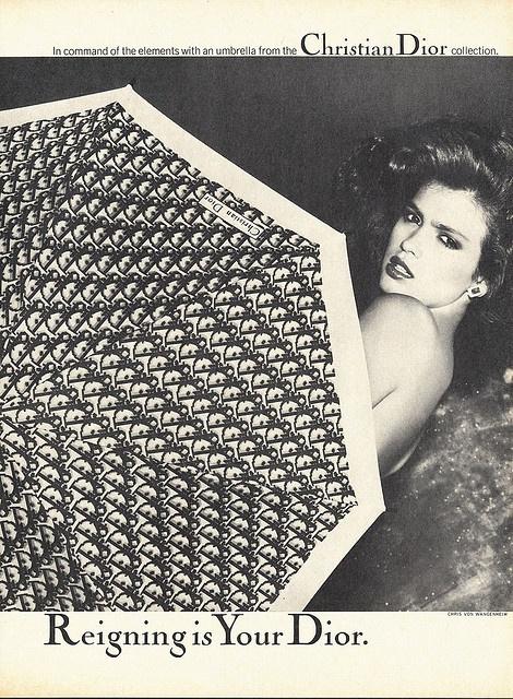 1979 Christian Dior Umbrella...Gia Carangi♥