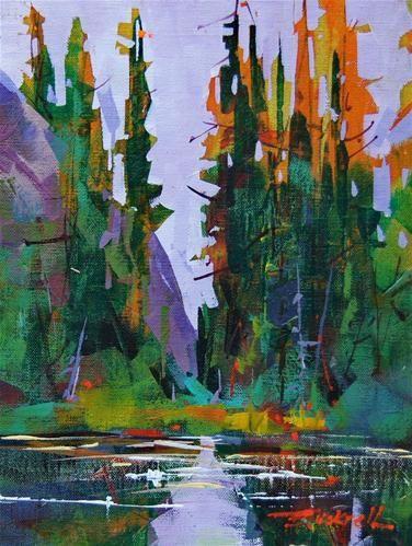"""""""Mt Beecher Pond"""" - Original Fine Art for Sale - © Brian Buckrell"""