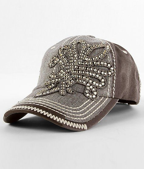 Olive and Pique Brown Sequin Hat