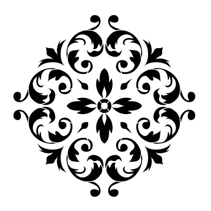 "Renaissance Ornament 11""x11"" Artisan Enhancements Stencil"