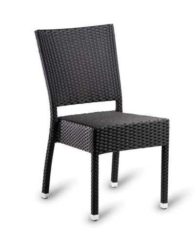 Ebony Weave Stacking Chair   Aluminium Frame With Ebony Resin Weave. Stacks  6 High.