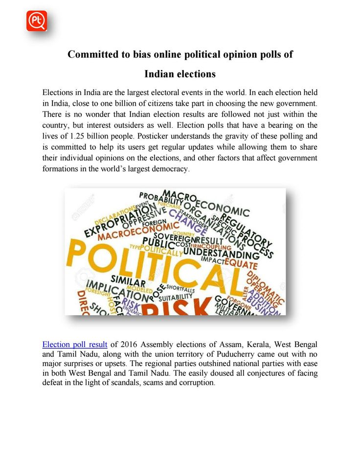 Committed to bias online political opinion polls of Indian elections