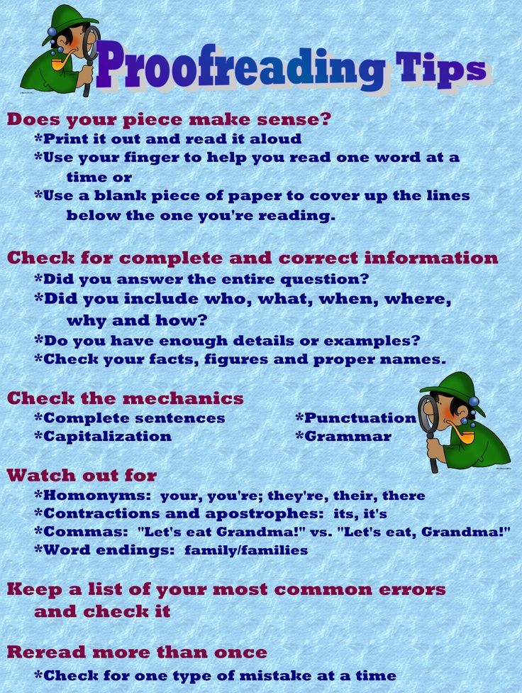 Essay editing tips to studying