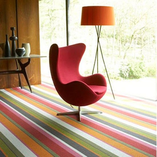 Wool Audrey sunrise carpet from Crucial Trading | Coloured carpets | Flooring | Finishing touches | PHOTO GALLERY | housetohome.co.uk