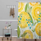 $89 Found it at AllModern - Cori Dantini Sun Burst Flowers Polyester Shower Curtain