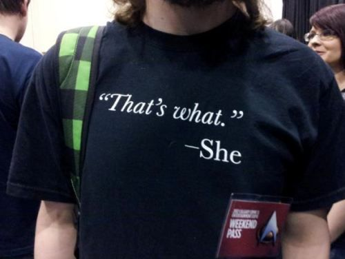 That's what she said. ;D