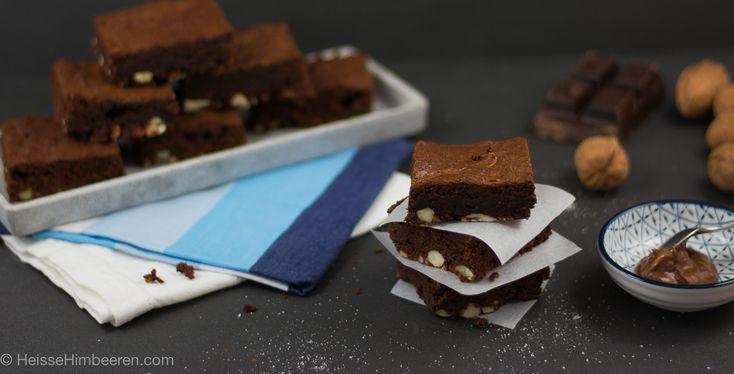 Verboten gute Nutella Nuss Brownies | Heisse Himbeeren