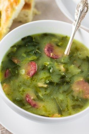 Caldo Verde (Portuguese Green Soup) | www.oliviascuisine.com