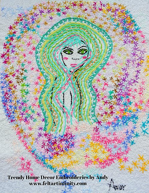 Dreaming by Trendy Home Decor Embroideries by Andy