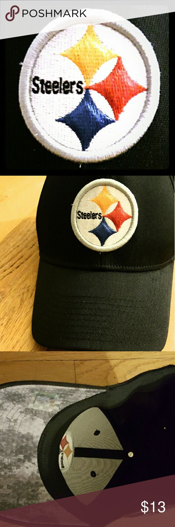 ?? OFFICIAL NFL REEBOK STEELERS MEN'S HAT NEW WITHOUT TAG