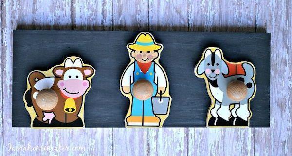 Habitaciones infantiles, 5 percheros originales 5 percheros originales para las habitaciones infantiles. No te pierdas estos percheros infantiles que podemos personalizar con ideas sencillas y originales.