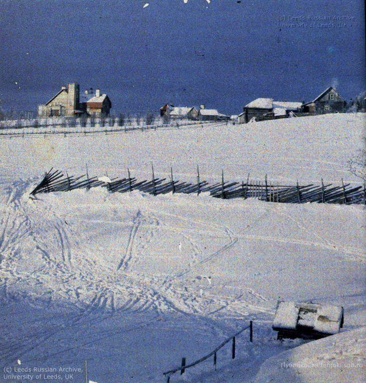 зимний вид деревни ваммельсуу, 1910г.