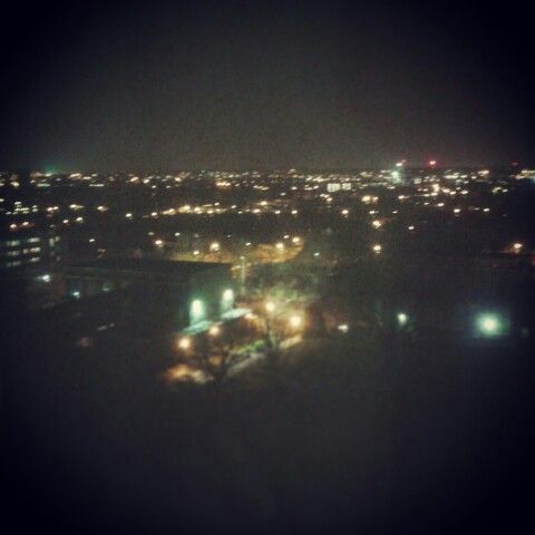 my veiw over London from student halls