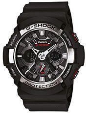 Relógio G-Shock Digital GA-200-1ADR - Preto+Prata
