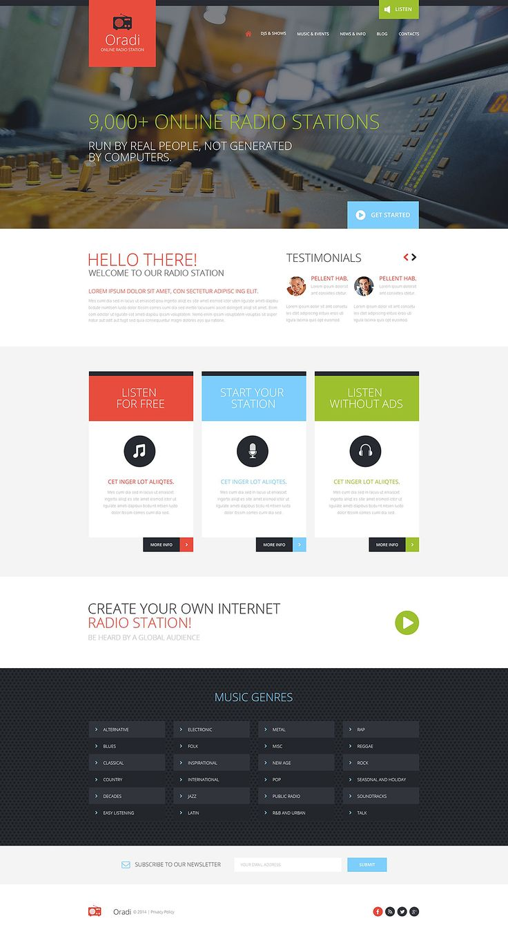 Radio Website Responsive Website Template #52094