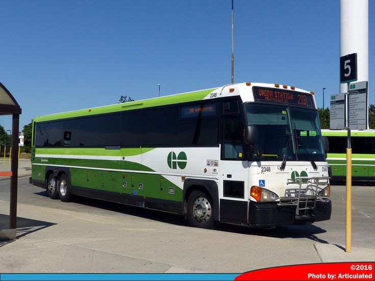 GO Transit 2348 is a 2007 MCI D4500CT, operating on route 21 to Union Station.  Photo taken at Meadowvale GO Station .