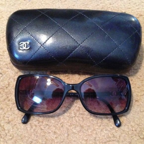 % Authentic Classic Chanel sunglasses PRICE IS NOT FIRM! REPOSHING! They were originally bought from Lens Crafters! Looking for a different style. I might not sell unless price is right! Comes with everything pictured! No wear at all! Practically new! CHANEL Accessories Sunglasses