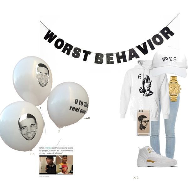 HAPPY BIRTHDAY DRAKE by bvbybarbie on Polyvore featuring polyvore, fashion, style, Lacoste, October's Very Own, Casetify, WALL, Drakes London and clothing