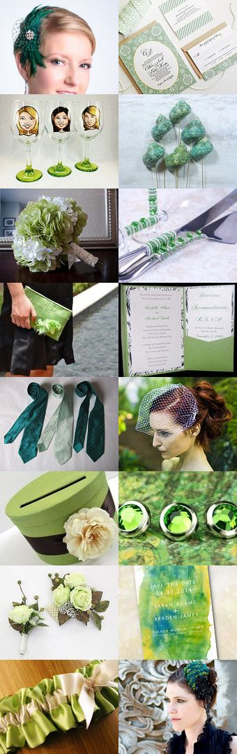 Green Wedding by parsi on Etsy--Pinned with TreasuryPin.com