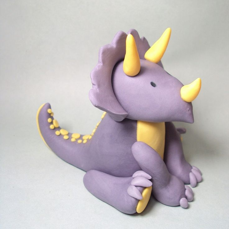 Triceratops Cake Topper for Dinosaur Birthday Parties and other events