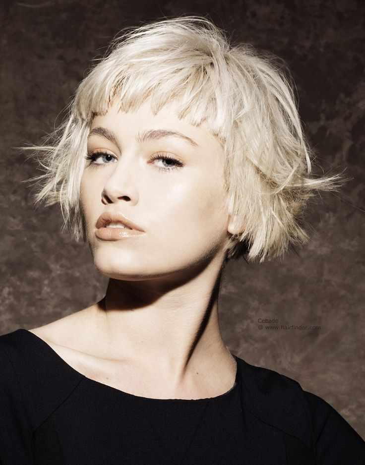 Short bob hairstyle with short bangs http://postorder.tumblr.com/post/157432633559/jet-black-hairstyle-ideas